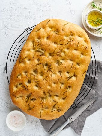 Buckwheat Focaccia Bread with Rosemary