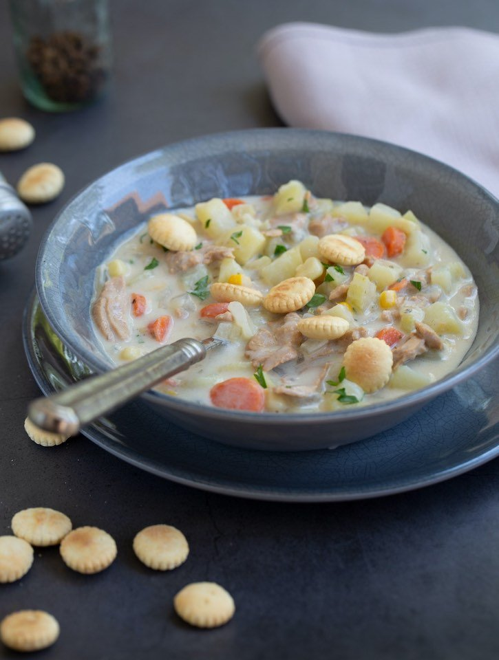 New England vegan clam chowder