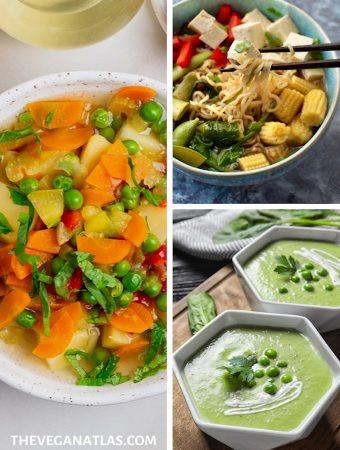 Spring vegetable soups - vegan, plant-based