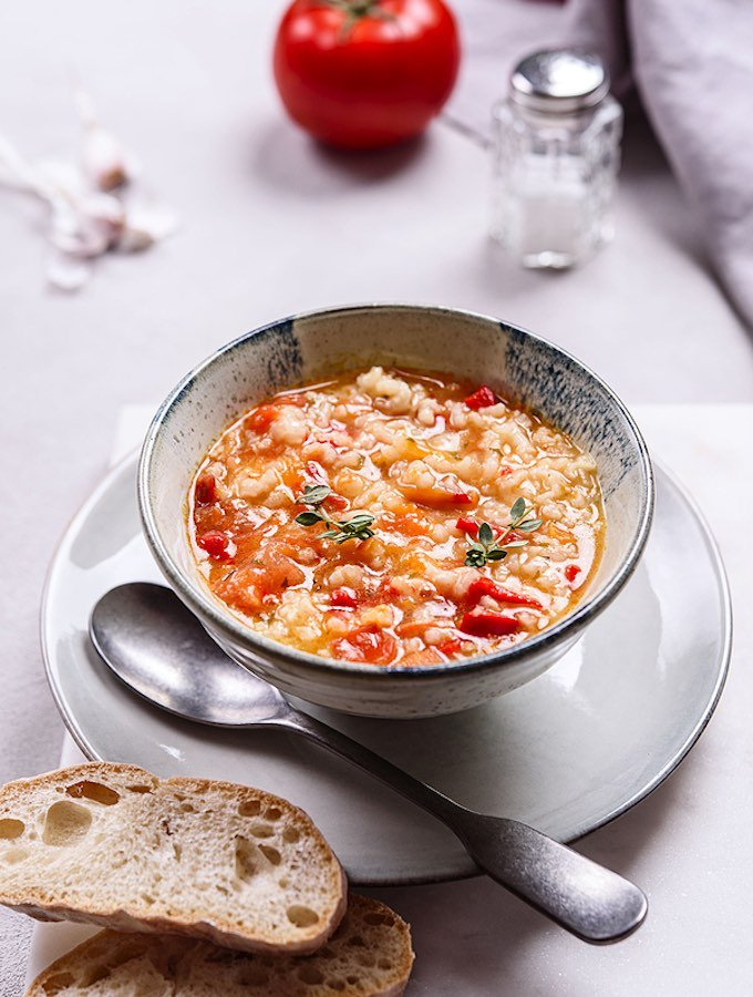 Tomato Brown Rice Soup