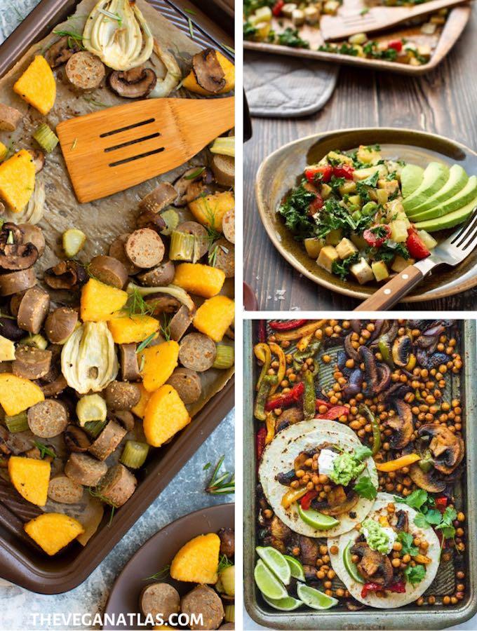 vegan sheet pan dinners roundup