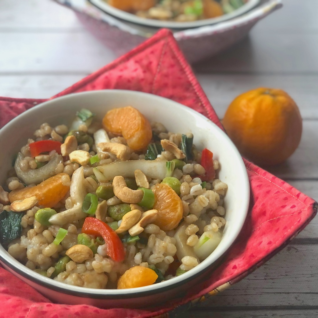 Edamame & orange grain bowls2