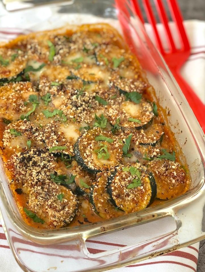 Vegan Greek Zucchini Gratin