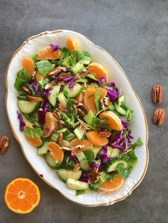 Green Salad with Oranges & Bok choy
