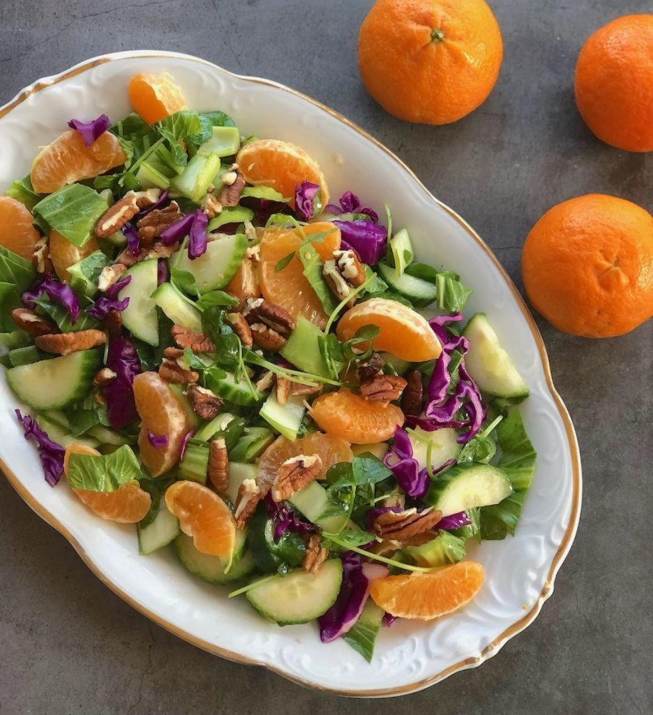 Green Salad with Oranges & Bok choy or Belgian endive sm