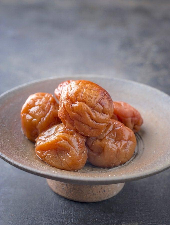 Traditional Japanese Umeboshi plums