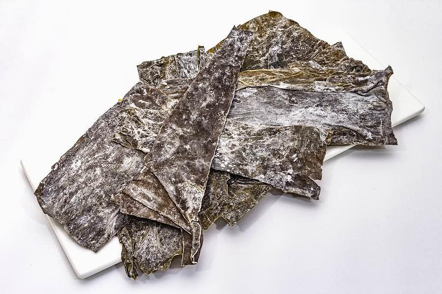 Dried sea vegetable kombu kelp