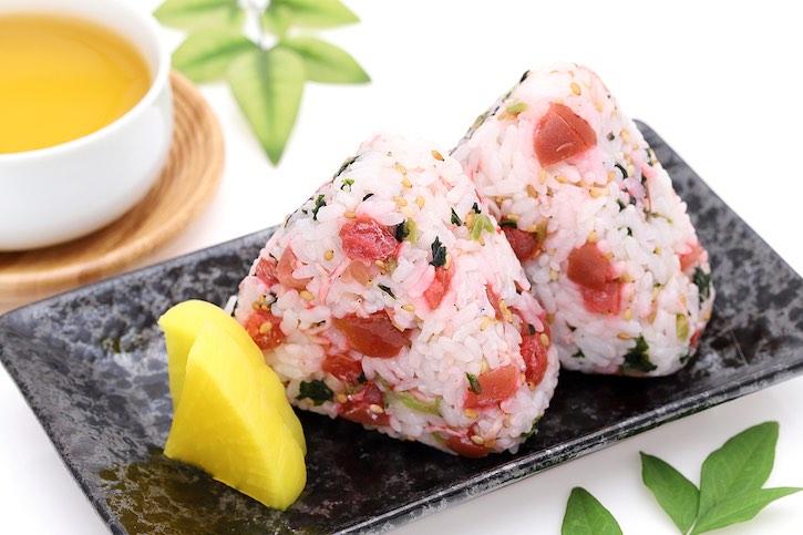 onigiri rice balls with umeboshi