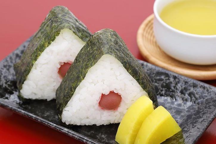 Onigiri sushi with Umeboshi