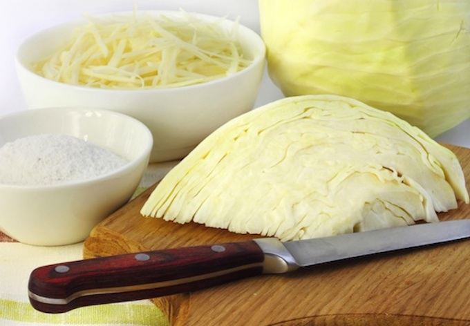 Sauerkraut making