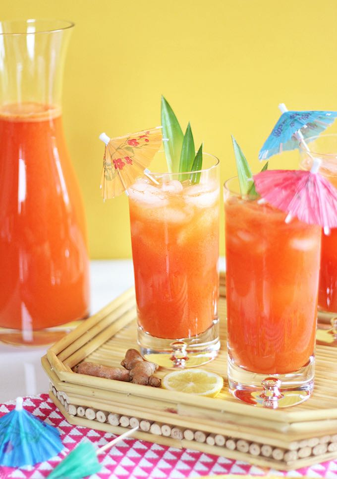 Tropical pineapple turmeric cooler