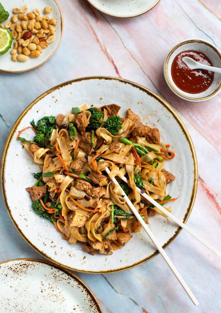 Vegan Pad See Eew made with plant-based protein