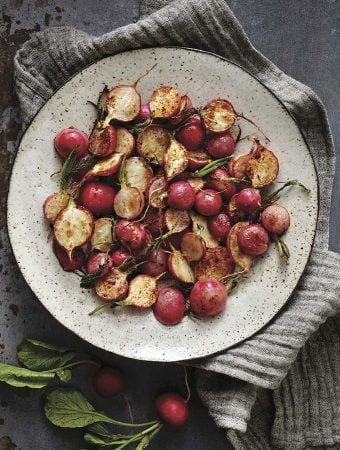 chili-lime roasted radishes