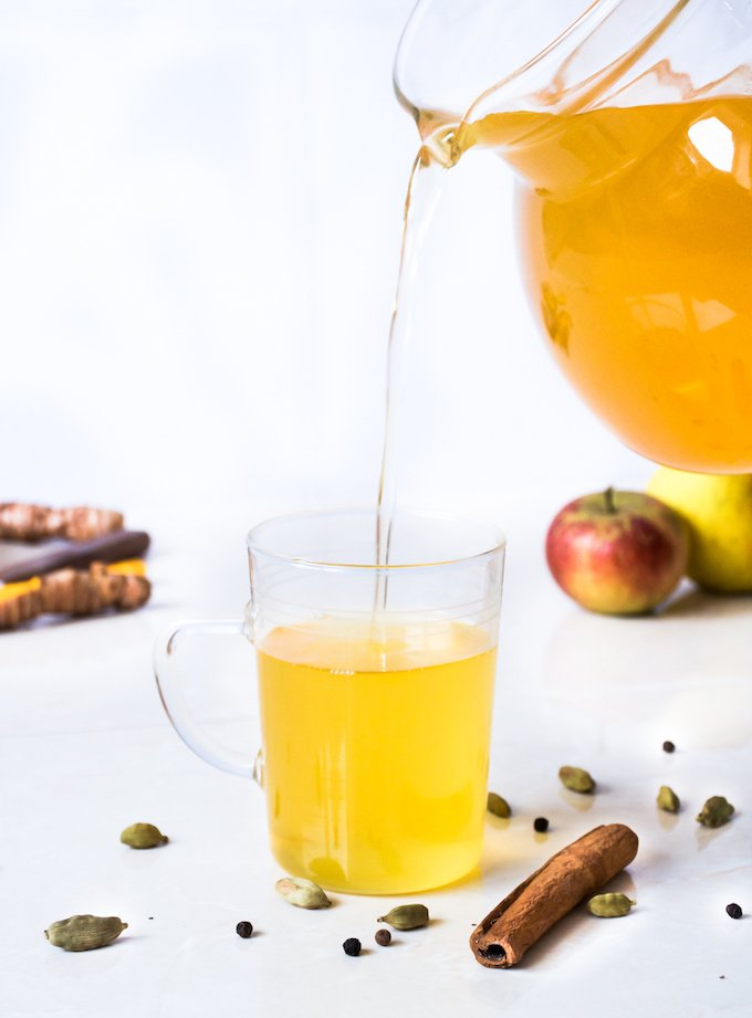 ginger turmeric yoga tea