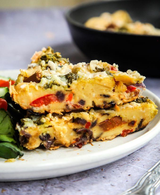 Cheezy Vegan Chorizo Frittata
