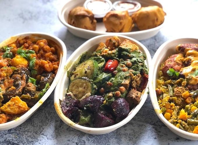 Hari and Kofta bowls from Krishna Kitchen