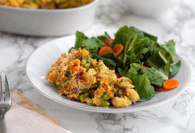 Mom's Vegan Tuna-Noodle Casserole