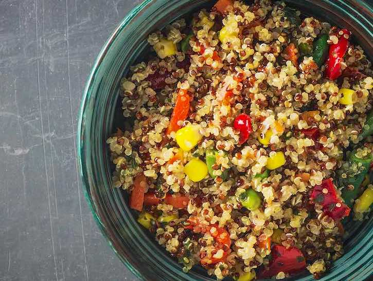 Quinoa and corn salad with southwestern flavors sm