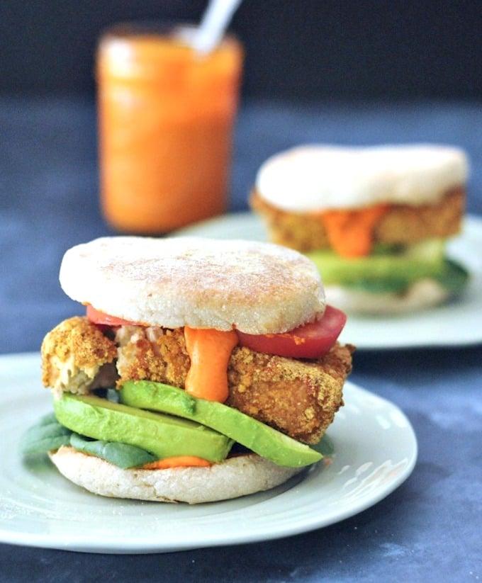 Sunrise Stack Veggie Breakfast Sandwich