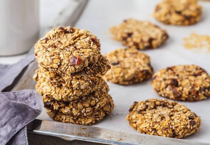 Three-seed sesame cookies