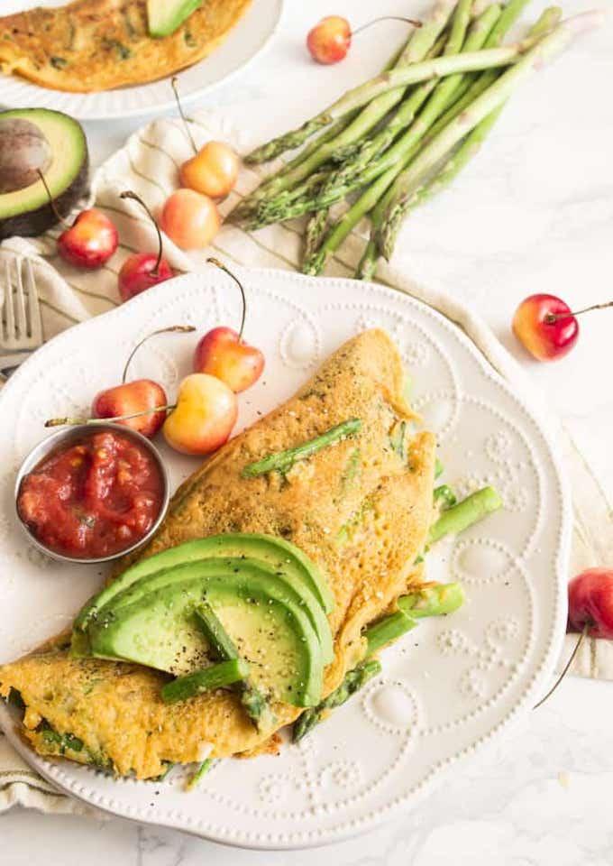 Vegan Asparagus Omelette