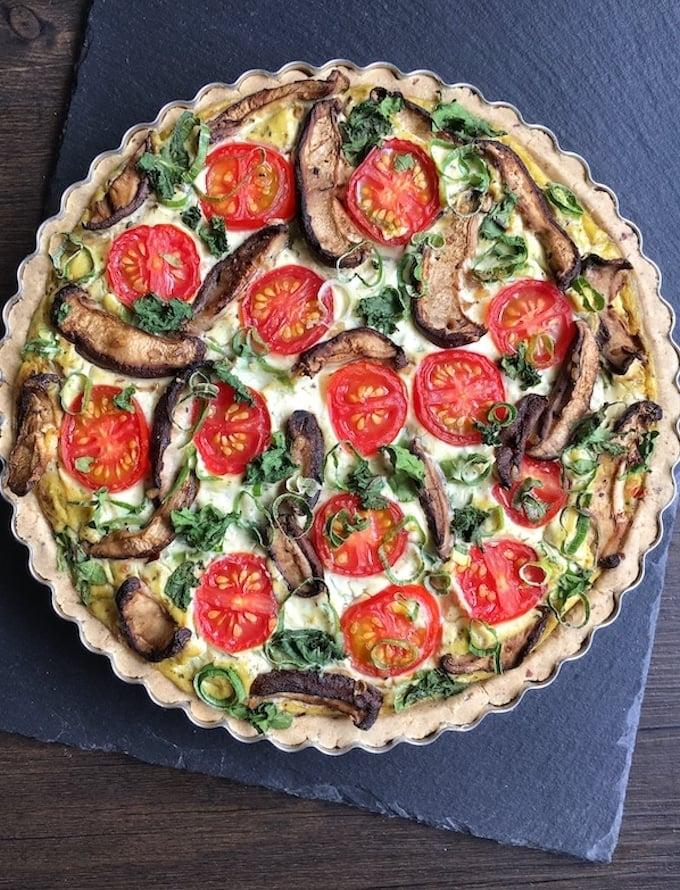gluten-free vegan quiche lorraine