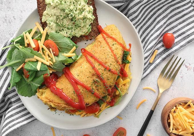easy vegan chickpea flour omelette