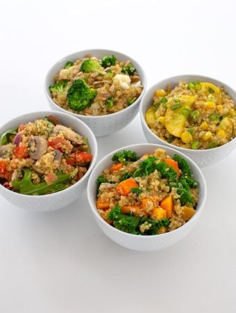 Seasonal Quinoa Pilafs with vegetable variations