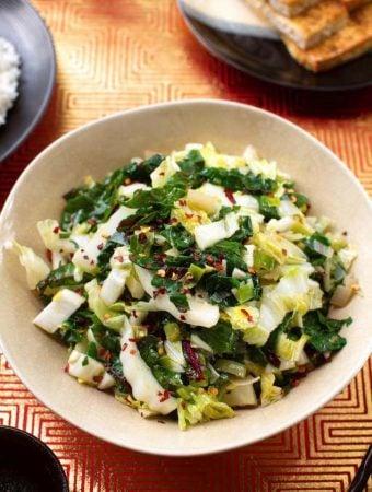 Stir-Fried Chard & Napa cabbage