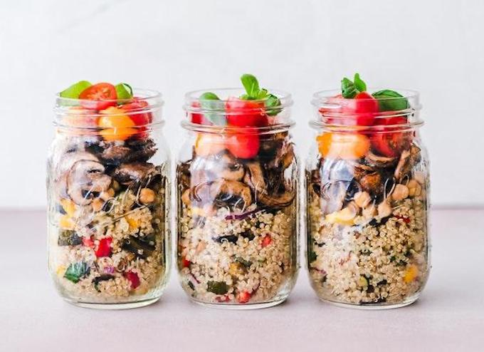 Meal prep in jars