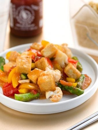 Sweet & Sour Stir-Fried Vegetables with tofu
