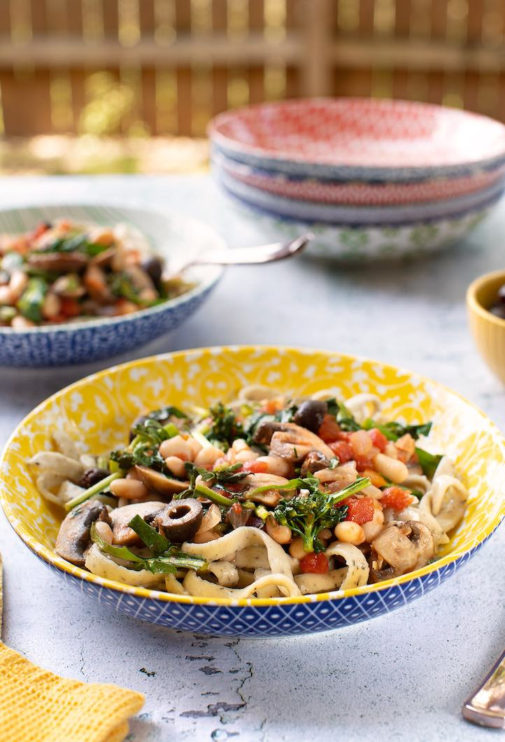 Broccoli Rabe with White Beans & Mushrooms3