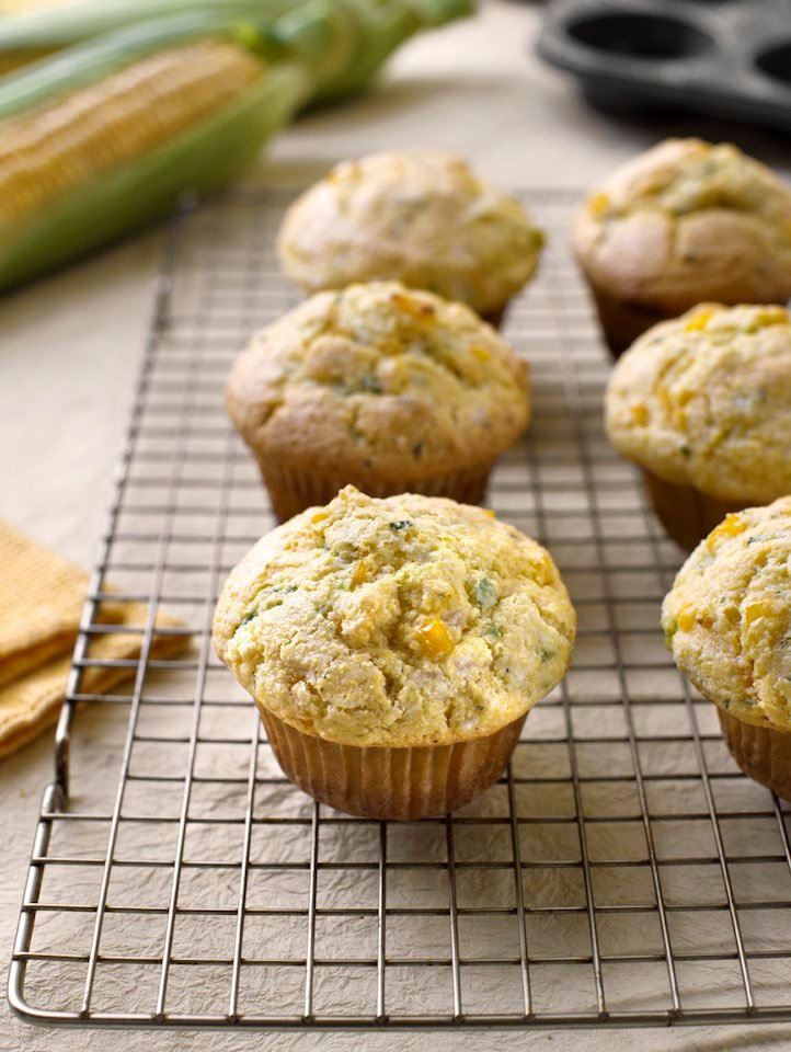 Vegan corn muffins with cheese and herbs recipe
