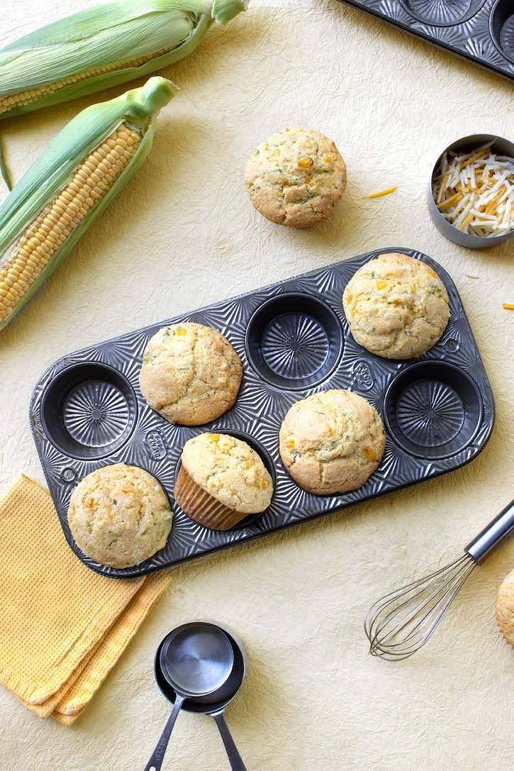 Cheese & herb vegan corn muffins