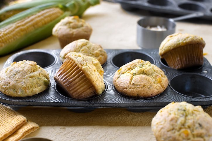 Easy Cheese & Herb corn muffins
