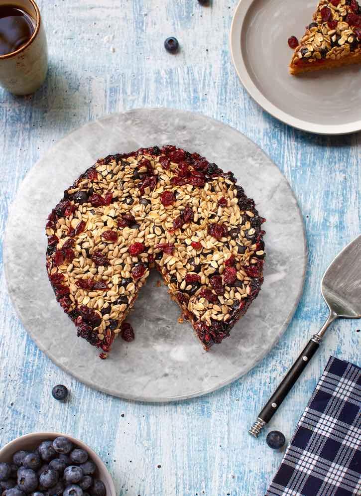 vegan Fruity breakfast cake