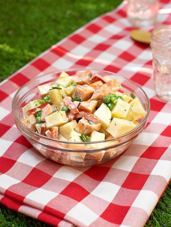Vegan Golden & Sweet Potato Salad