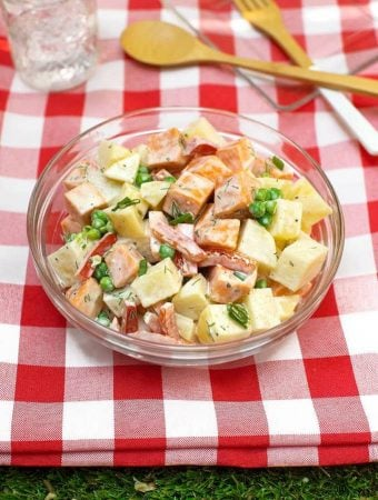 Golden and Sweet Potato Salad