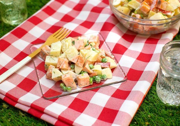 Golden potato & Sweet Potato salad