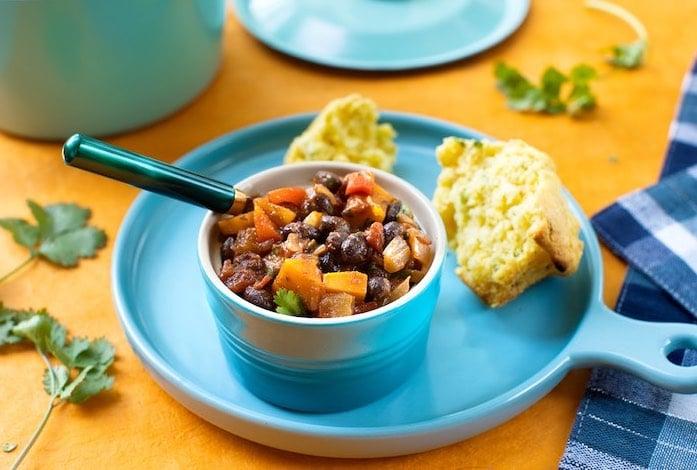 Quick Black Bean & Sweet Potato Chili2