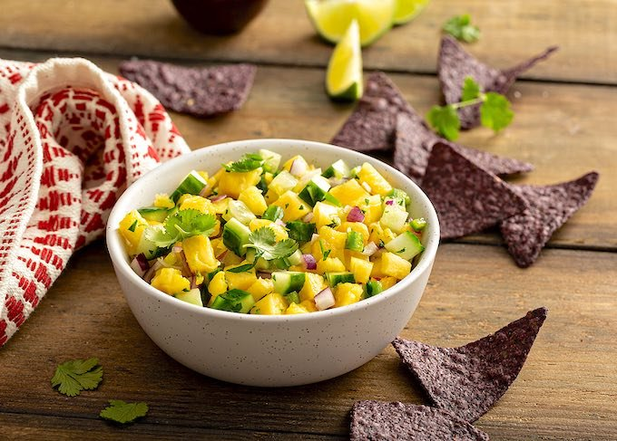 Cucumber and Pineapple Salsa recipe