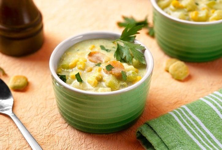 Creamy vegan corn chowder recipe