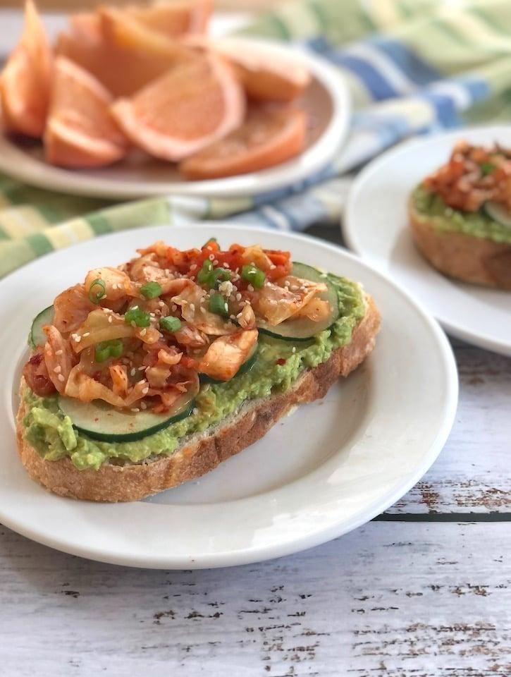 Kimchi avocado toastt1