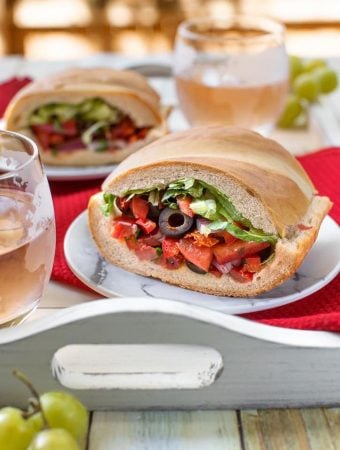 Pan bagnat -Mediterranean Salad-Stuffed bread