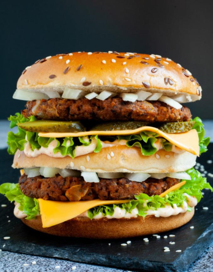 Real meaty vegan burger