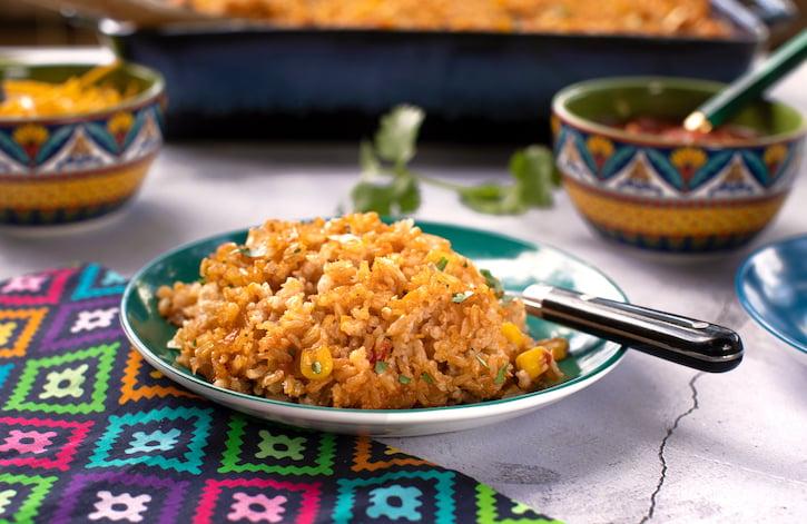 Southwestern cheesy rice casserole recipe
