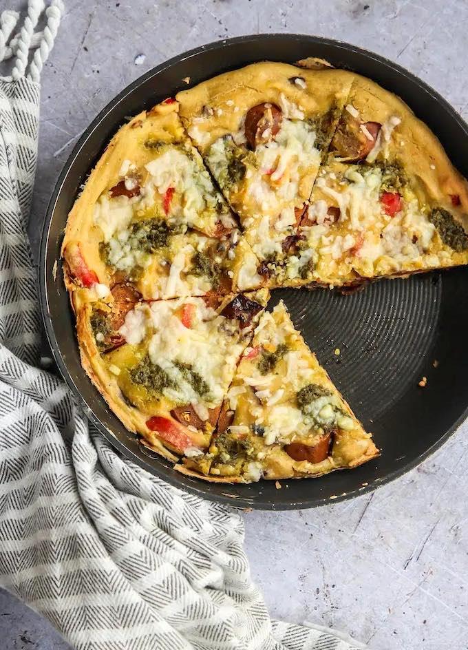Vegan chorizo & pepper Frittata