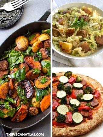 vegan sausage recipes roundup