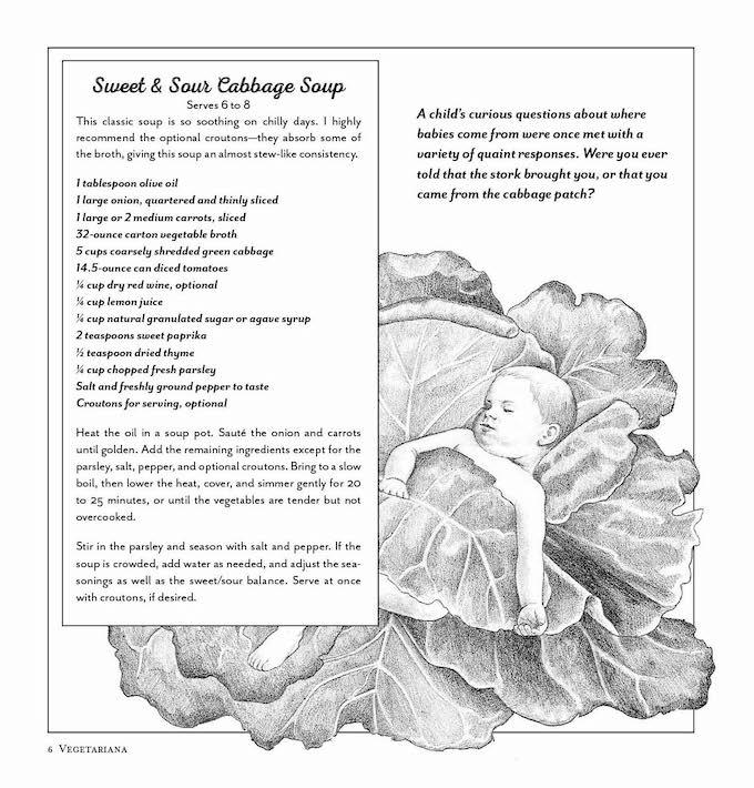 Vegetariana by Nava Atlas - baby in cabbage