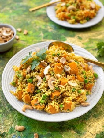 brown rice and sweet potato pilaf1